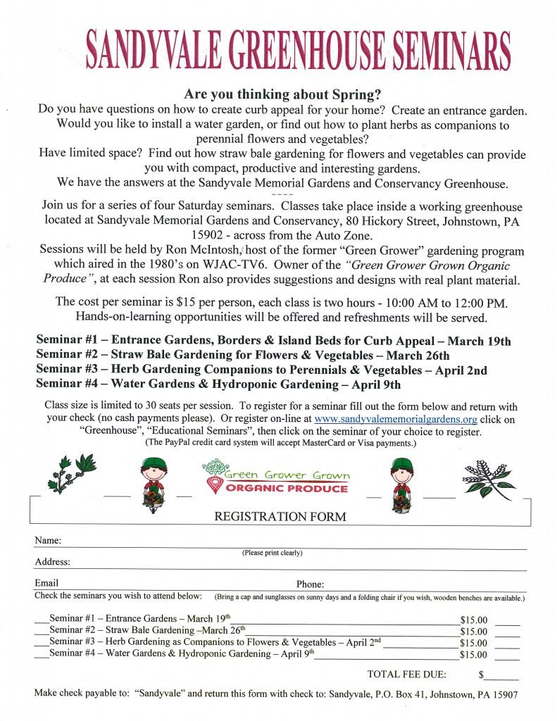 2016 Sandyvale Greenhouse Seminars